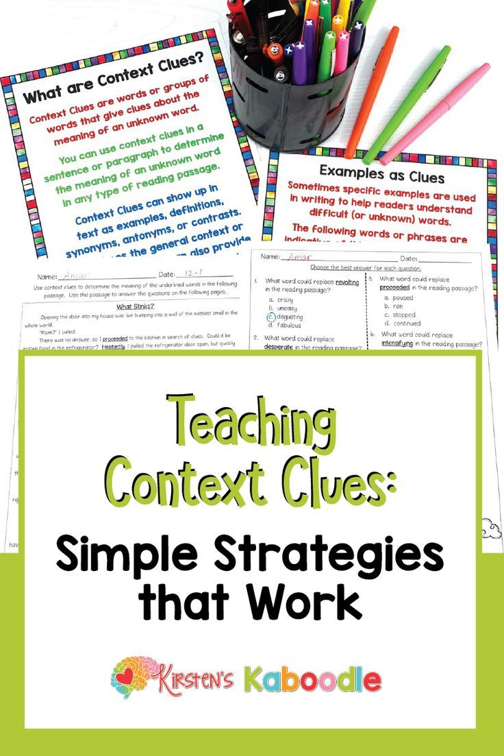 Teaching Vocabulary Doesn T Have To Be Laborious Or Boring If You Re Looking For Quick And Easy T Context Clues Context Clues Lesson Context Clues Activities [ 1103 x 736 Pixel ]