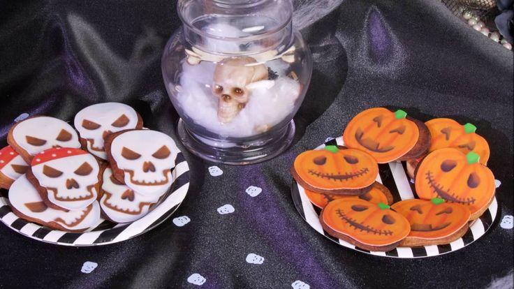 Ricetta Halloween biscottini scheletri e zucche