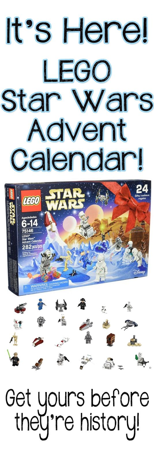 LEGO Star Wars Advent Calendar for 2016! Get yours before it's gone. They're on sale now!! Awesome Christmas present the whole family can enjoy!