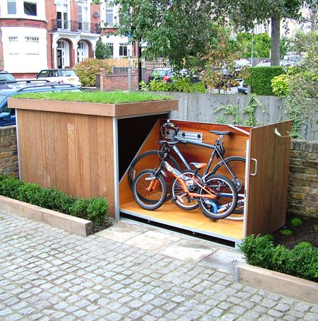 Check out this brilliant idea and be inspired to build a similar storage place for your bikes.