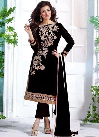 Uttam Collection Black Suit For Women - Uttam Collection Ethnic suit