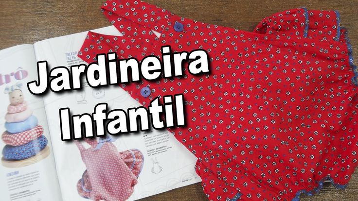 Jardineira Infantil Revista Burda Agosto 2016
