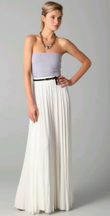 17 Best images about long and white..(white maxi skirt) on Pinterest