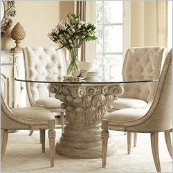Dining RoomDecoration Decorating Enjoyable Room With Small Glass Tables Amazing Tufted Chairs Photos Design Ideas
