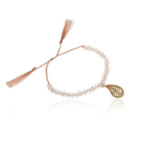 Counting my Blessings bracelet £43 from Ananda Soul Creations. Rose Quartz and gold vermeil on pink silk cord.