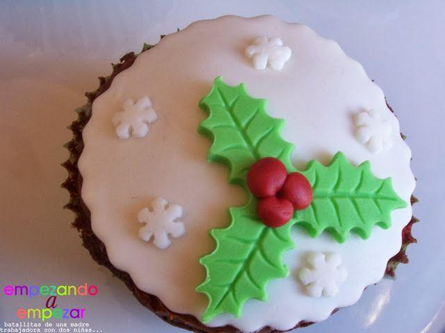 EMPEZANDO A EMPEZAR: Cupcakes de Navidad