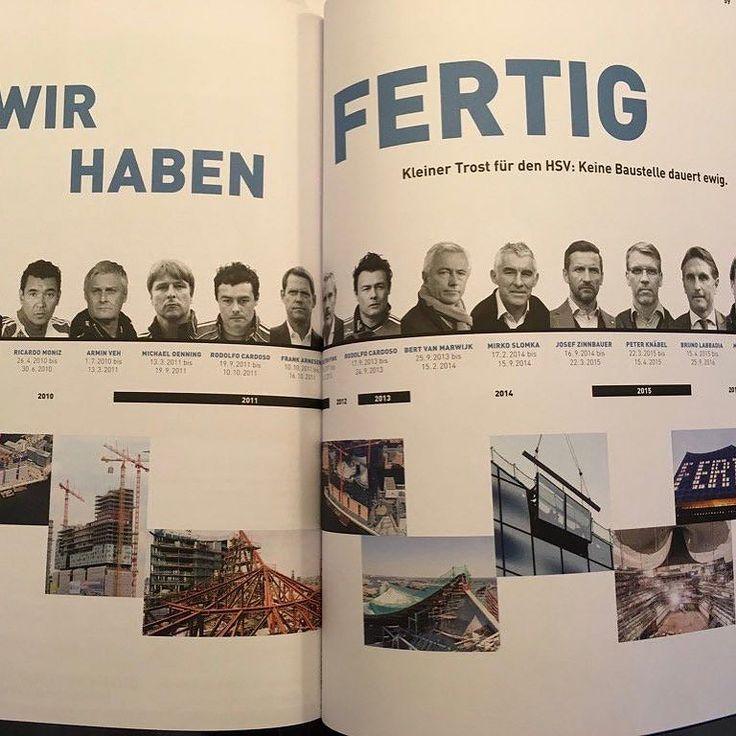 """Aus dem Programm der #Elbphilharmonie (#elphi). """"Kleiner Trost für den #hsv . Keine Baustelle dauert ewig."""" Toller Trost: 10 Jahre Bauzeit 789 Millionen Baukosten   #bolzplatzhelden #hamburg #elbe"""