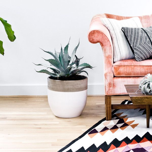 I'm ready to move into this space asap! Grab that rug and pillows from one of my favorite stores, the Citizenry.