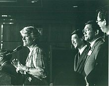 Geraldine Ferraro - Wikipedia, the free encyclopedia, first female vice-presidential candidate on a major ticket with Walter Mondale in 1984.