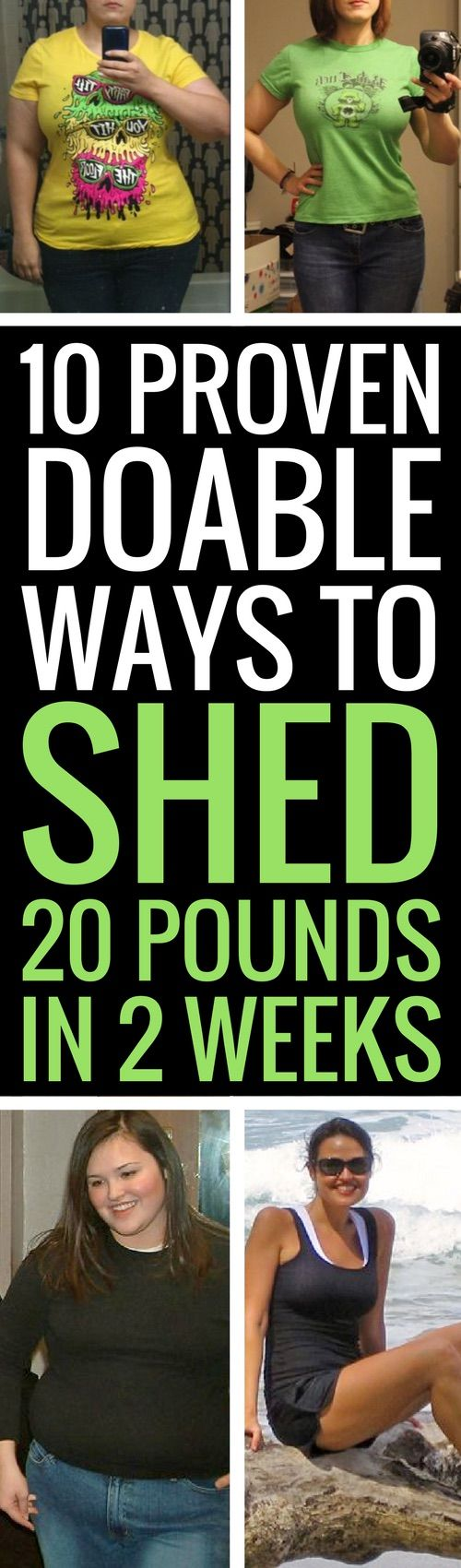 10 reliable ways to lose 10 pounds in 2 weeks.