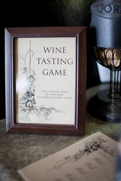 Wine Tasting Game for Bridal Shower || Photos by Kat Shanahan Photography