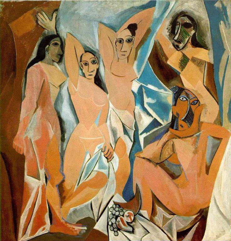 6-Picasso, Les Demoiselles d'Avignon, 1907, huile sur toile, 243,9 x 233,7, New York, MOMA
