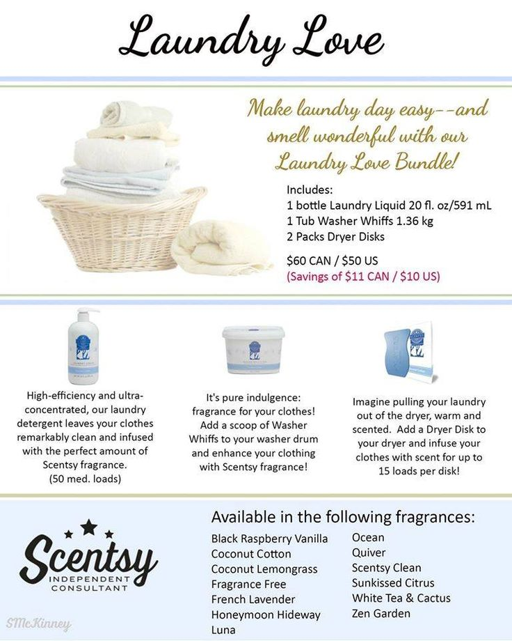 these are amazing laundry products,now everyone has laundry to do at some point right? our laundry love line has amazing products! with awesome scents. laundry liquid, washer whiffs (like unstoppables), clothing condtioner and dryer disks. once you try these youll never look back!