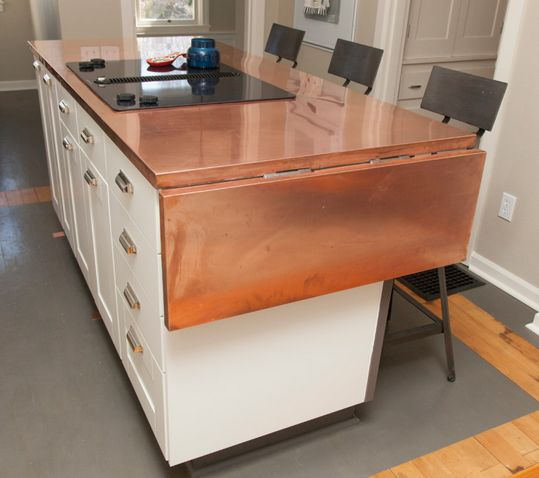 Obsessed with copper countertops - Article: Copper Countertops: Would You Do It?