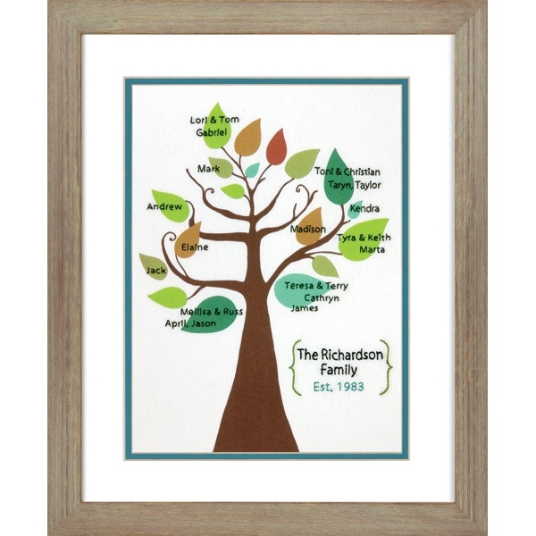 Dimensions Crafts®   Stylized Family Tree Crewel Embroidery Kit
