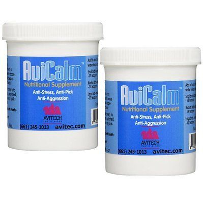 Other Bird Supplies 3211: Avicalm Bird Calming Supplement For Parrots 4Oz - Box Of 2 BUY IT NOW ONLY: $59.07