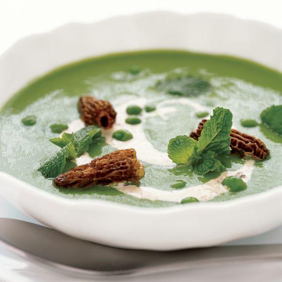 Garden Pea Soup with Morel Cream Recipe - Daniel Humm | Food & Wine