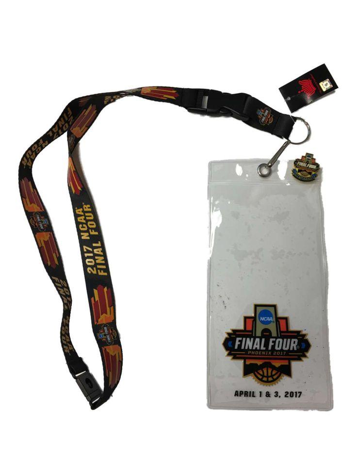 2017 NCAA Basketball Final Four Aminco Credential Holder Lanyard & Pin Set