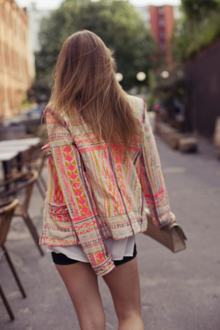 Love this jacket - bright color and the pattern! xo # Sabelline