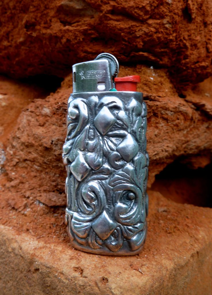 Mini Bic vintage sterling silver lighter case by accessoriesformen on Etsy