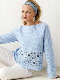 free ravelry pattern, boat neck crochet sweater / jumper