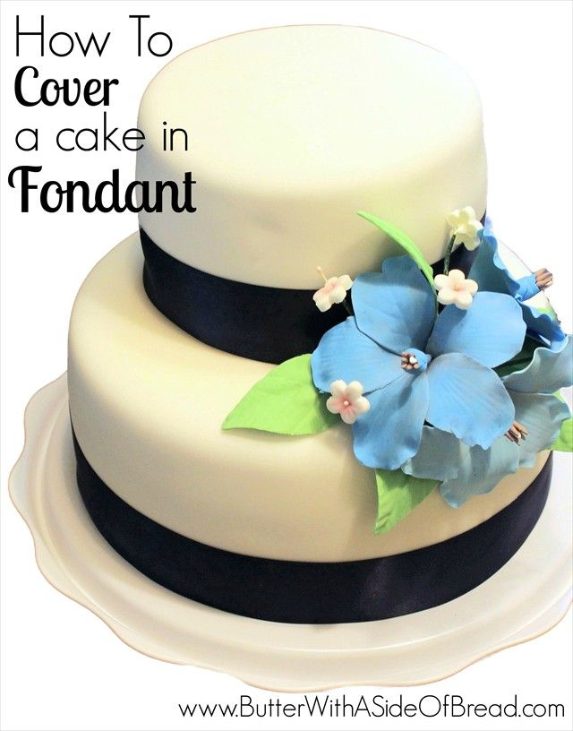 How To Cover a Cake in Fondant~ great step-by-step tutorial!