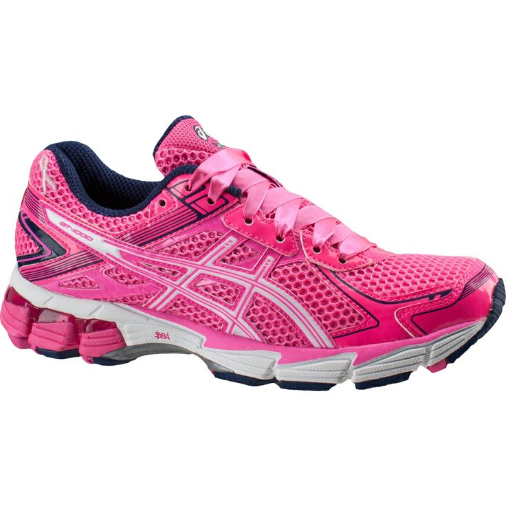 asics gt 1000 2 pink ribbon running shoes womens