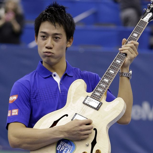 Kei Nishikori of Japan won his fourth straight Memphis Open title Sunday, beating American teen Taylor Fritz 6-4, 6-4