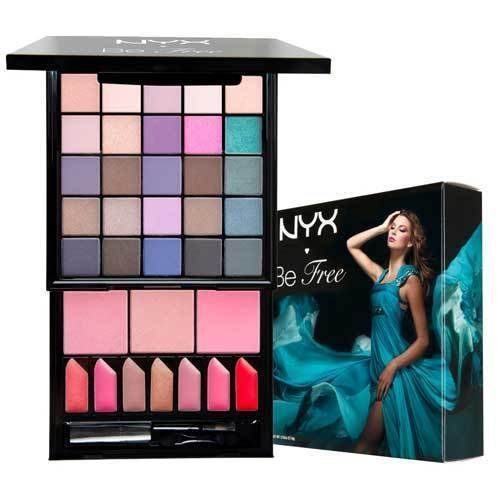 NYX BE FREE EYESHADOW BLUSH LIP GLOSS COLLECTION MAKE UP SET ** You can find out more details at the link of the makeup sets.