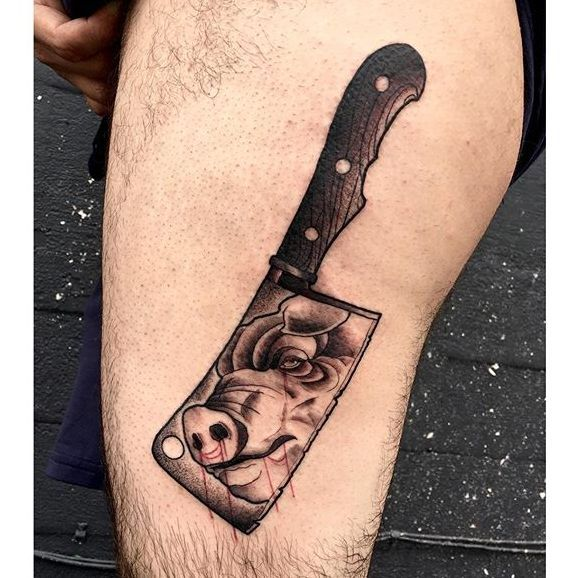 Cleaver Tattoos: 181 Best Images About Gun's And Weapons Tattoos Ideas On