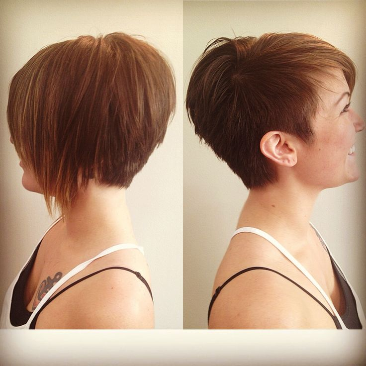 Asymmetrical pixie, Stylists and Inverted bob on Pinterest