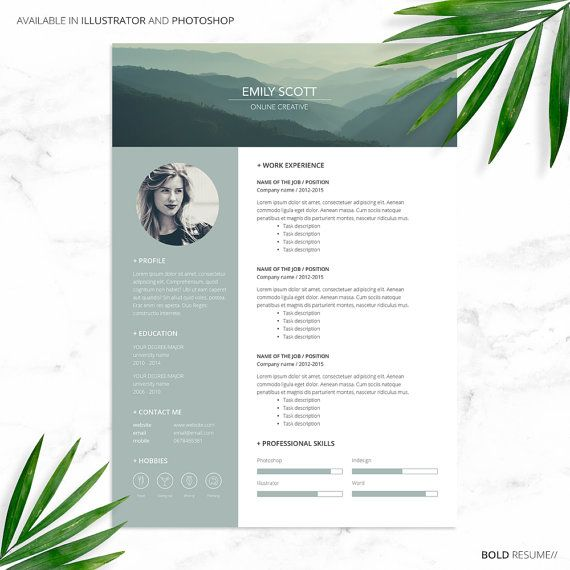 Best Cv Images On   Creative Resume Page Layout And
