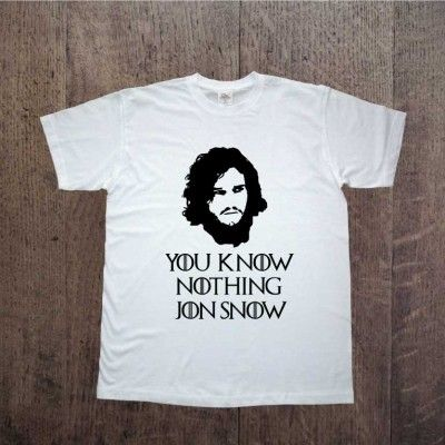 You know nothing JON SNOW Game of thrones Gra o tron Zapraszamy na www.ddshirt.pl men t-shirt koszulka męska moda odzież fashion