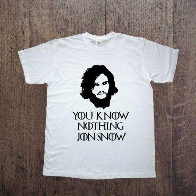 You know nothing JON SNOW Game of thrones Gra o tron Zapraszamy na www.ddshirt.pl men t-shirt koszulka męska moda odzież fashion