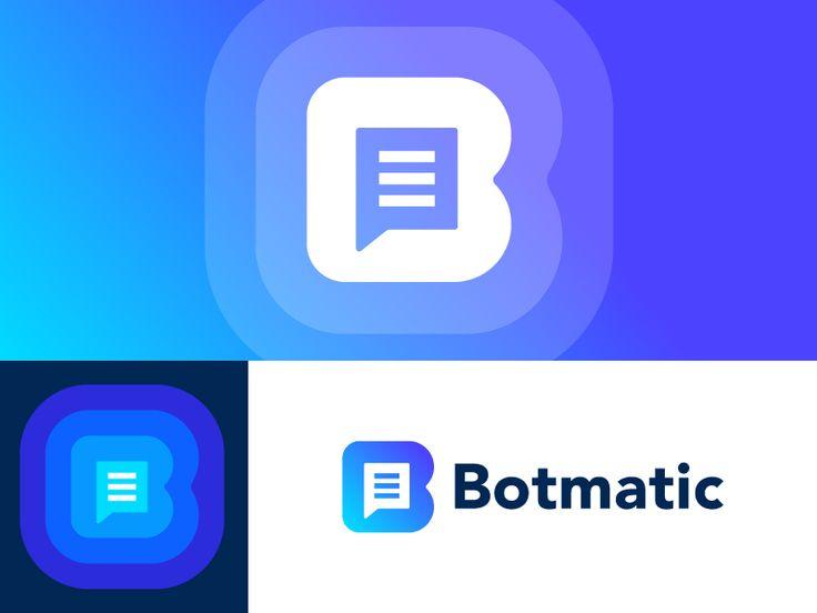Botmatic logo concept | Chatbot platform by Vadim Carazan