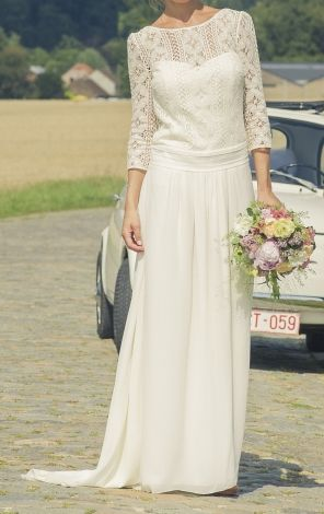 Brautkleid LAURE DE SAGAZAN Weiß, elfenbeinfarben