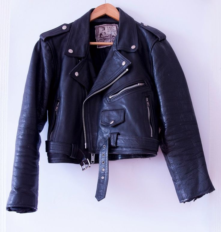 Vintage leather motorcycle jacket  #bikejacket #vintage #leatherjacket #black