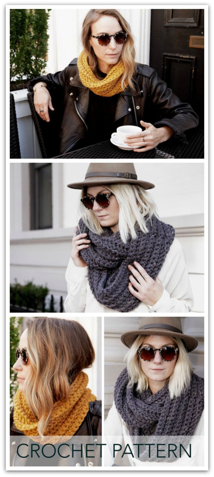 a2a2af68a71 Crochet Pattern    Herringbone Cowl Infinity Scarf Loop Unisex    Nomad  Loop PATTERN - Instant PDF download  ad  affiliate