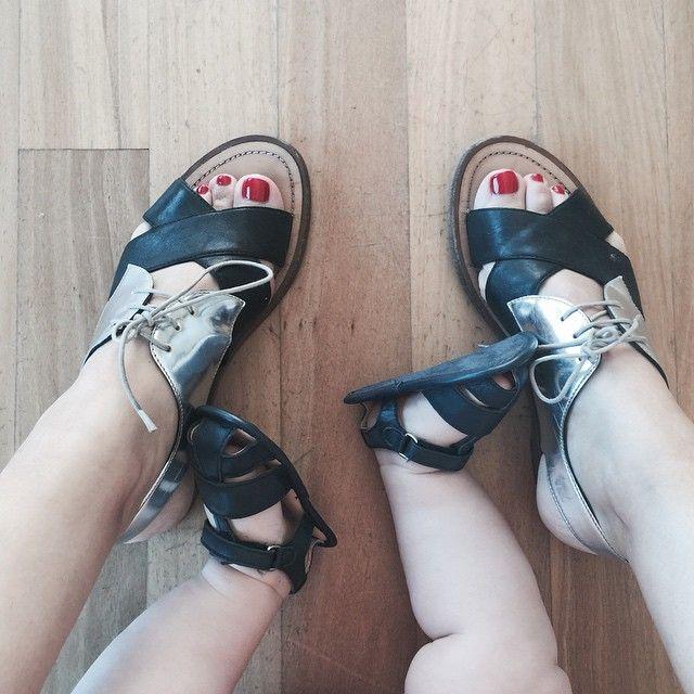 Sonny wearing Purebaby Navy Leather Sandals from our Summer 2014 range. Via Instagram Zoe Foster Blake @zotheysay Instagram