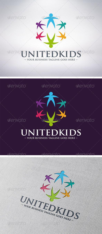Kids World Logo — Vector EPS #charity #human • Available here → https://graphicriver.net/item/kids-world-logo/6170640?ref=pxcr