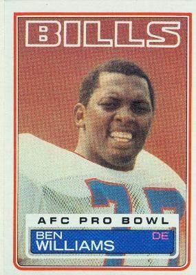 1983 Topps #229 Ben Williams DP - Buffalo Bills (Football Cards) by Topps. $0.88. 1983 Topps #229 Ben Williams DP - Buffalo Bills (Football Cards)