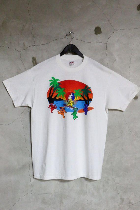 vintage t shirt Grateful Dead shirt Surfing by imtryingtofocus