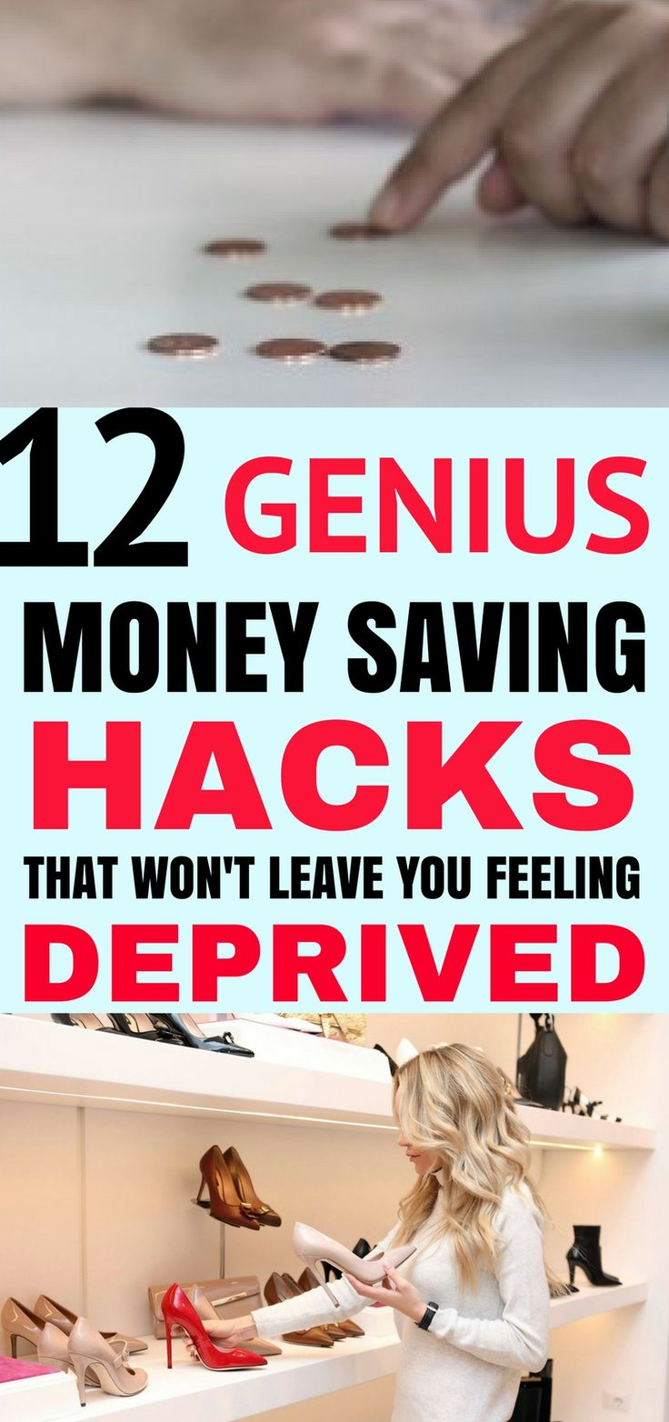 These 12 genius money saving hacks are THE BEST! I'm so happy I found these great tips and tricks! Now I can save tons of money each month without ever feeling deprived! Definitely pinning!
