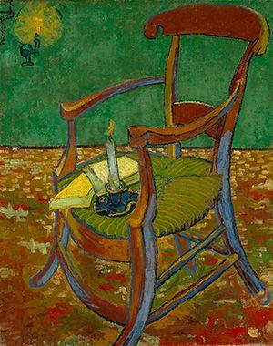 Vincent Van Gogh Gauguin's Chair 何か、力強くて、暖かくて優しくて、揺るぎない確信のようなものを感じた。ゴッホのゴーギャンに対する信頼のような...。