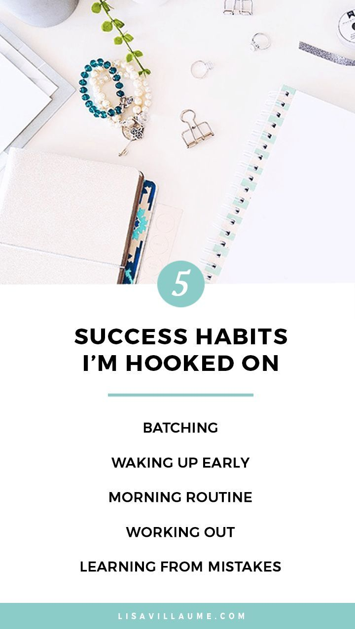 If you truly want to wake up excited to start the day and have a career you love and the lifestyle of your dreams…then you HAVE to make success a daily habit.