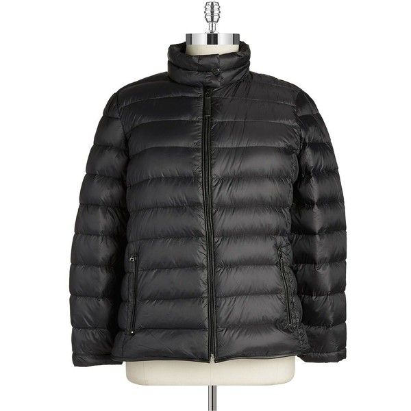 Marc New York Performance Plus Plus-Sized Puffer Coat ($43) ❤ liked on Polyvore featuring plus size fashion, plus size clothing, plus size outerwear, plus size coats, black, plus size, black puffer coat, long sleeve coat, plus size puffer coat and puff coat