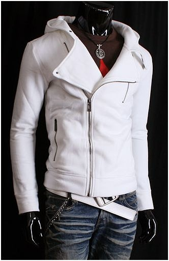 Raw Hood (White) - Rockdenim - $699nok