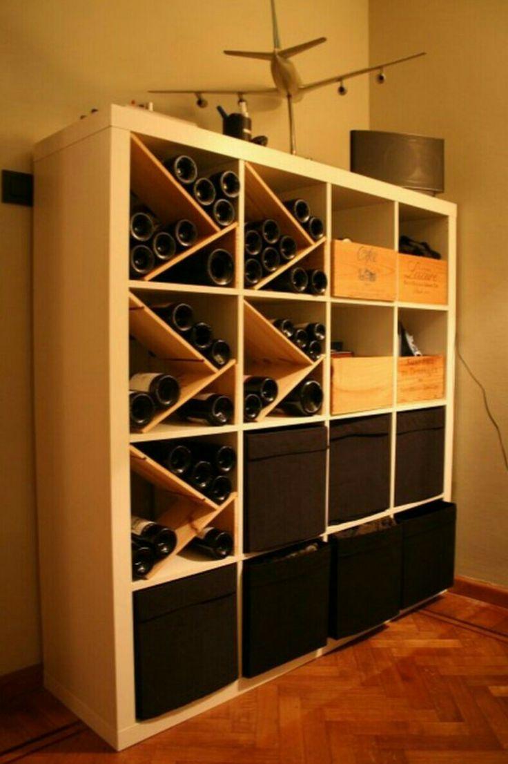 Cave à vin et bière fait maison | Idées déco / rangements | Pinterest | Caves