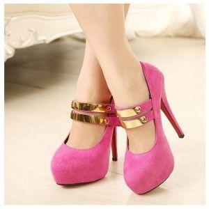 Sepatu Pinkish Gold Heels