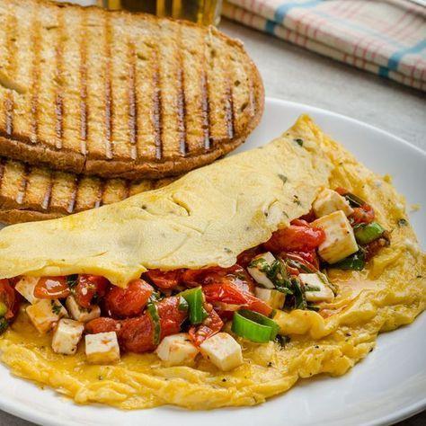 Omelette aux tomates séchées et feta